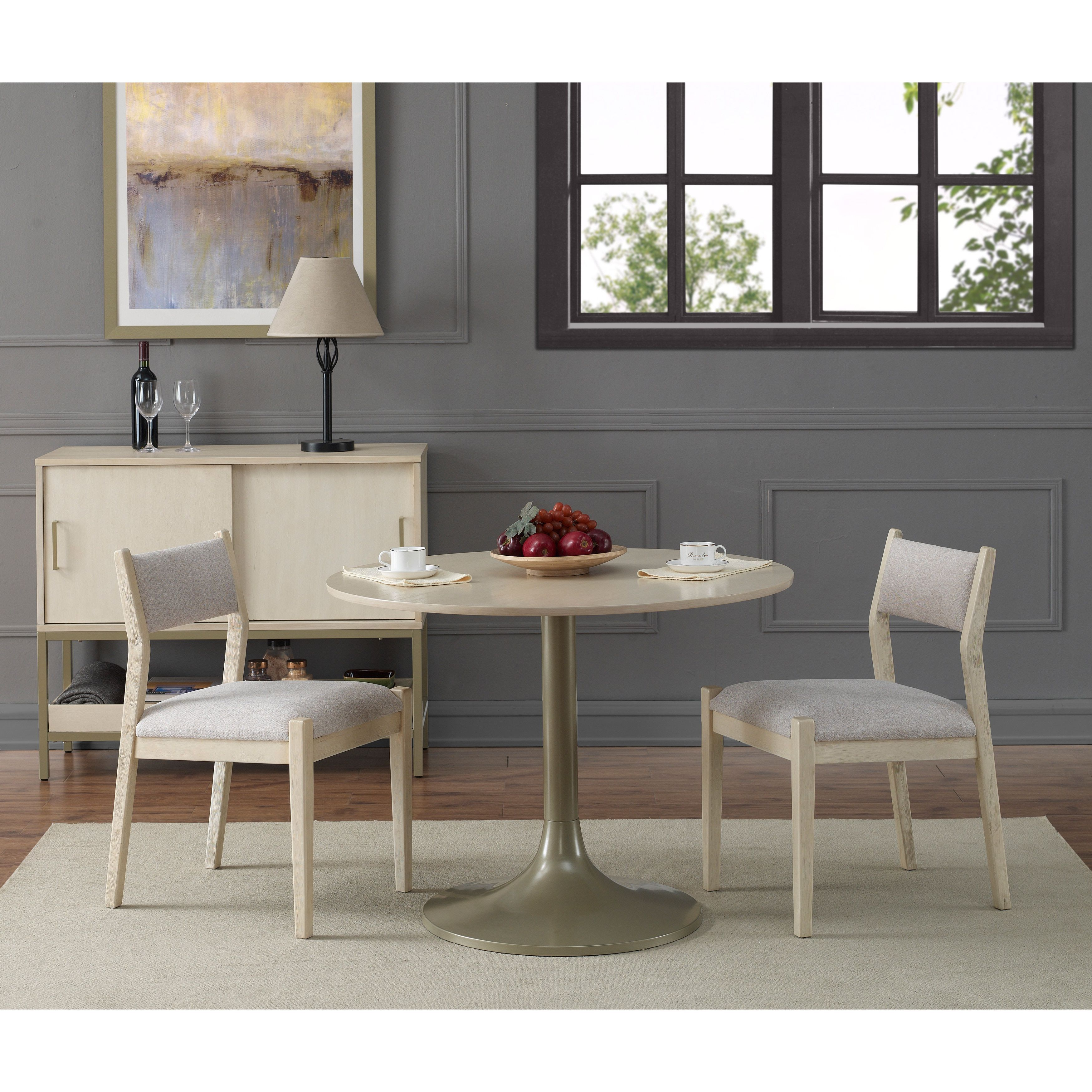 40-inch Moonlight Dining Table, Beige champagne