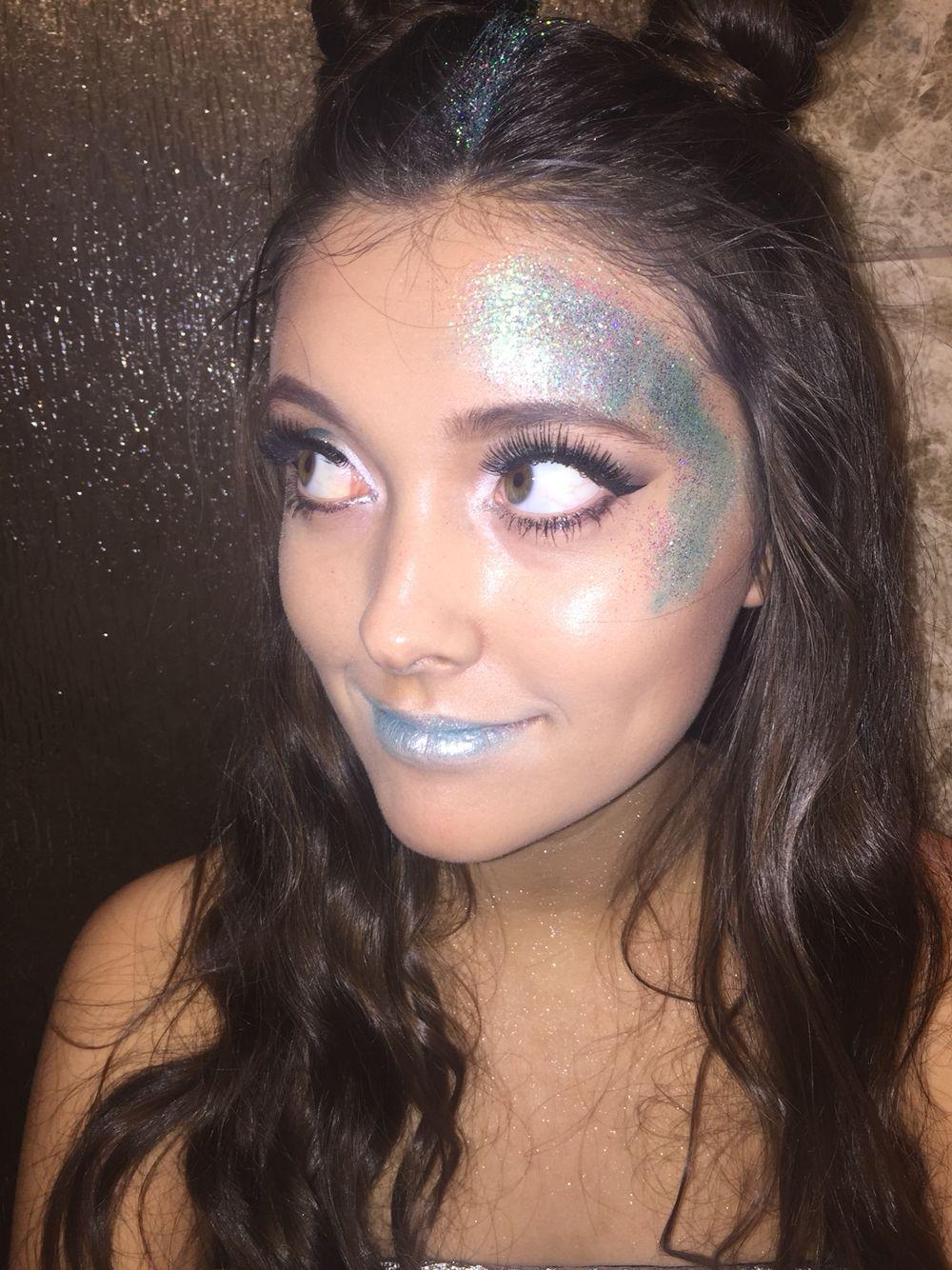 Space Jam/Alien Makeup & hair Alien halloween costume