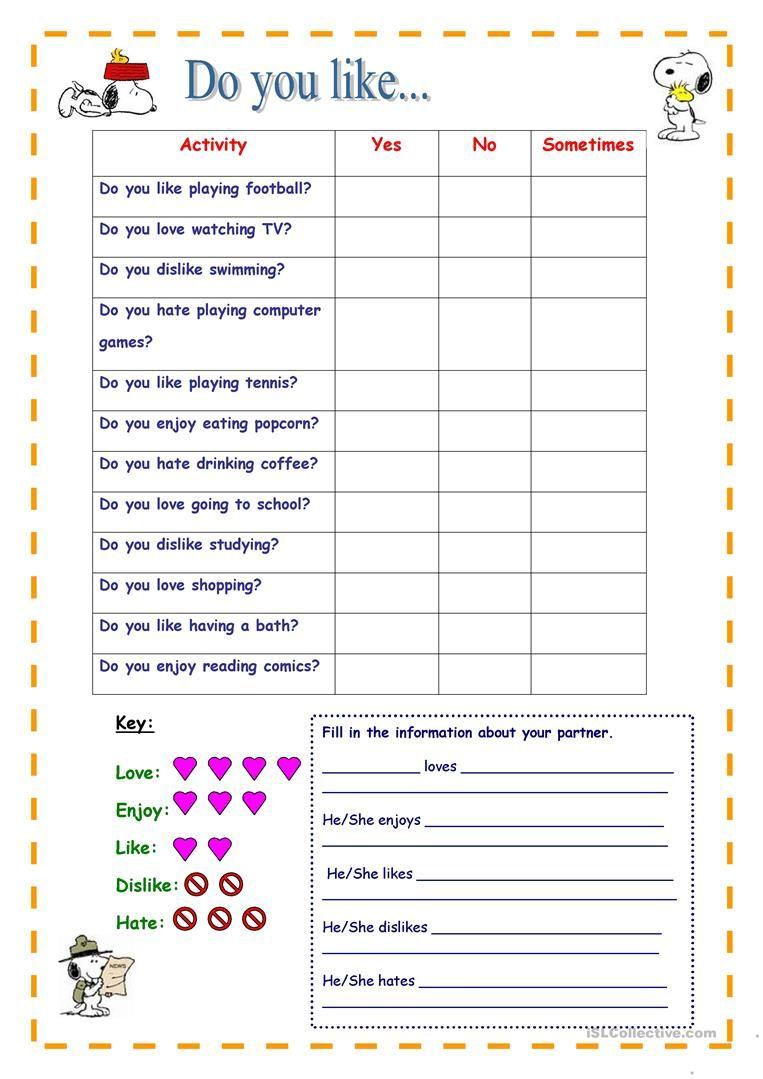 Do You Like Speaking Activity English Esl Worksheets Speaking Activities English Worksheets For Kids English Activities [ 1079 x 763 Pixel ]