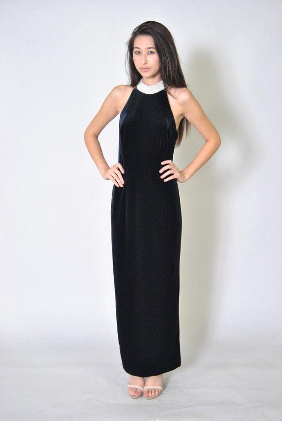 Pearl Collar Prom Dress