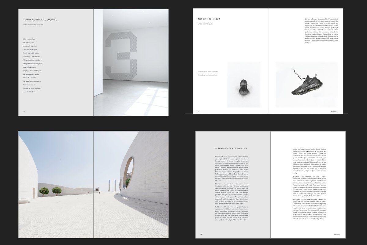 Minimal A5 Booklet Brochure Booklet Template Brochure Design Template Publisher Templates