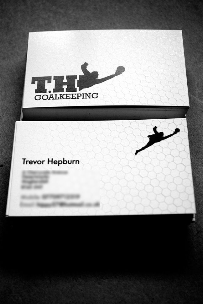 Goalkeeping Business Card Business Card Design Examples Of Business Cards Business Card Template Design