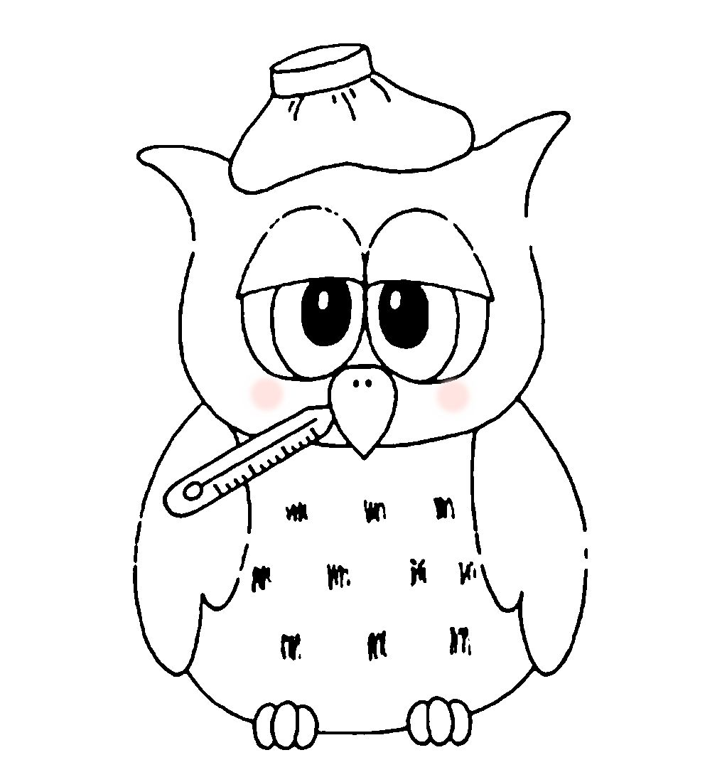 Get Well Owl Digi Stamps Owls Drawing Pattern Coloring Pages