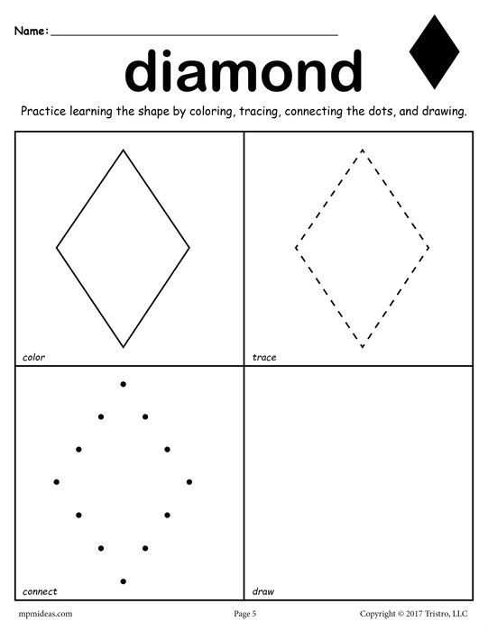 12 Shapes Worksheets Color Trace Connect Draw Shapes Worksheets Preschool Worksheets Printable Preschool Worksheets