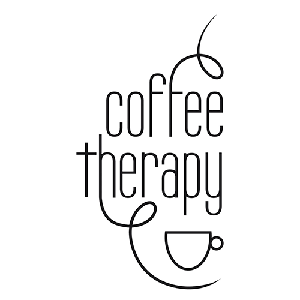 Coffee Therapy Die Cut Vinyl Decal PV1312