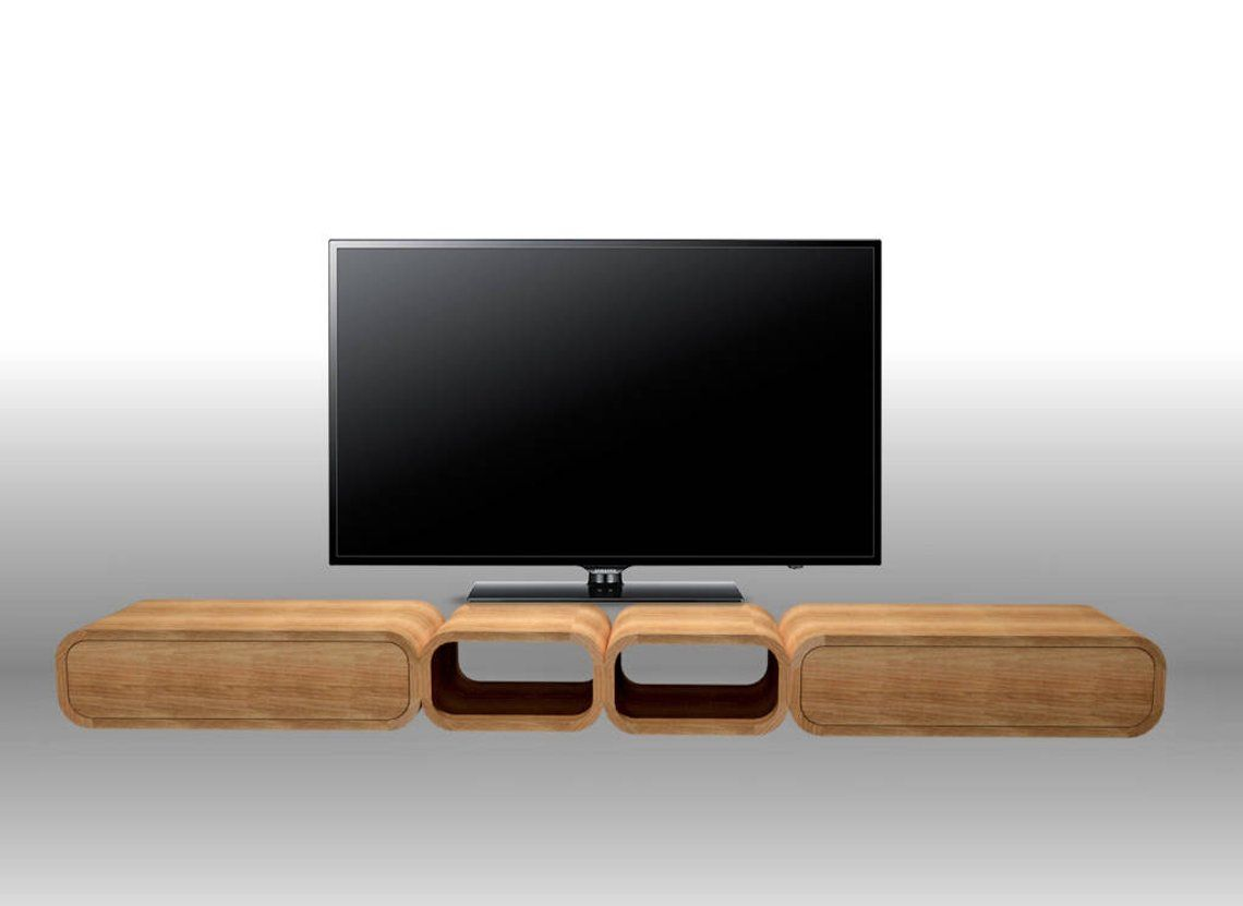 Tv Console Low And Long Tv Stand With Drawers Round Corners Solid