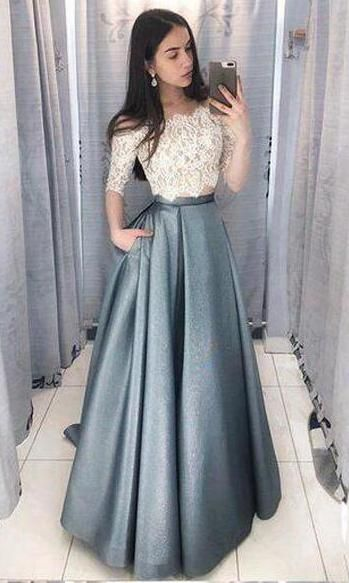 182086c8f42 Two Pieces Long Prom Dress School Dance Dress Fashion Winter Formal Dress  YDP0402