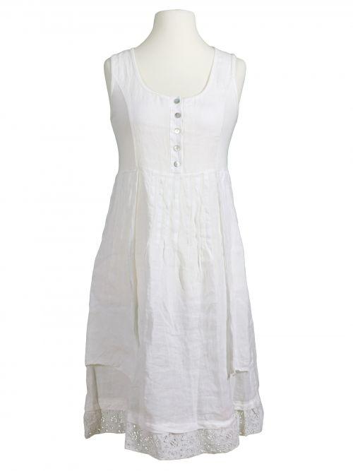 Damen Leinenkleid mit Spitze, weiss von Diana bei www ...