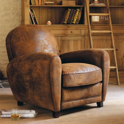 Sillon De Piel De Antelina Marron Club Chairs Armchair Leather