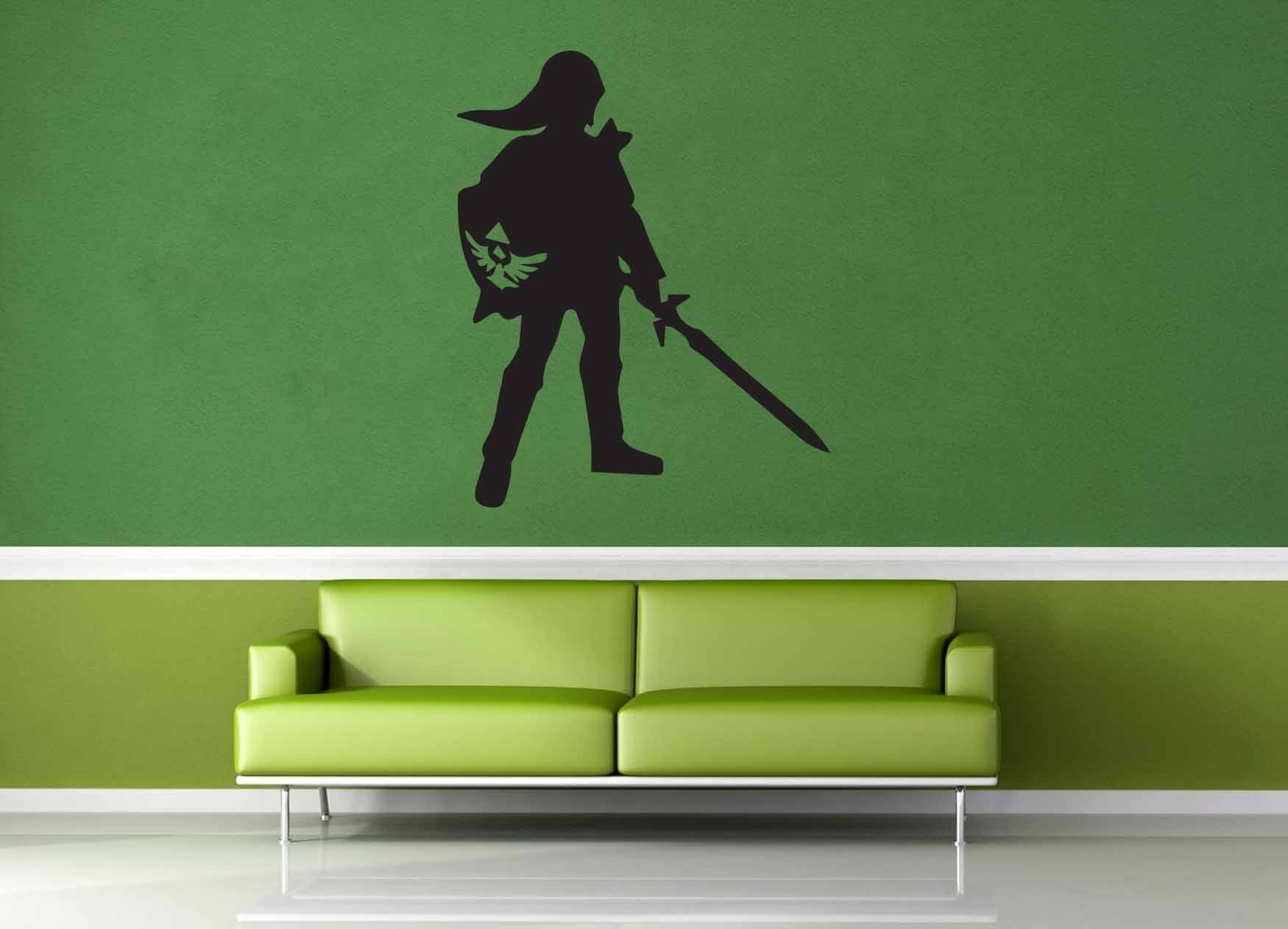 Link silhouette legend of zelda wall decal zelda link silhouette legend of zelda wall decal amipublicfo Choice Image