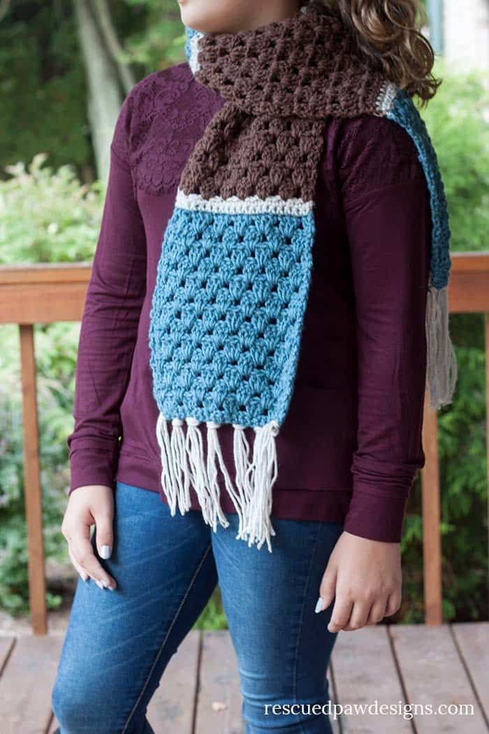 Free Simple Granny Scarf Crochet Pattern Pinterest Simple