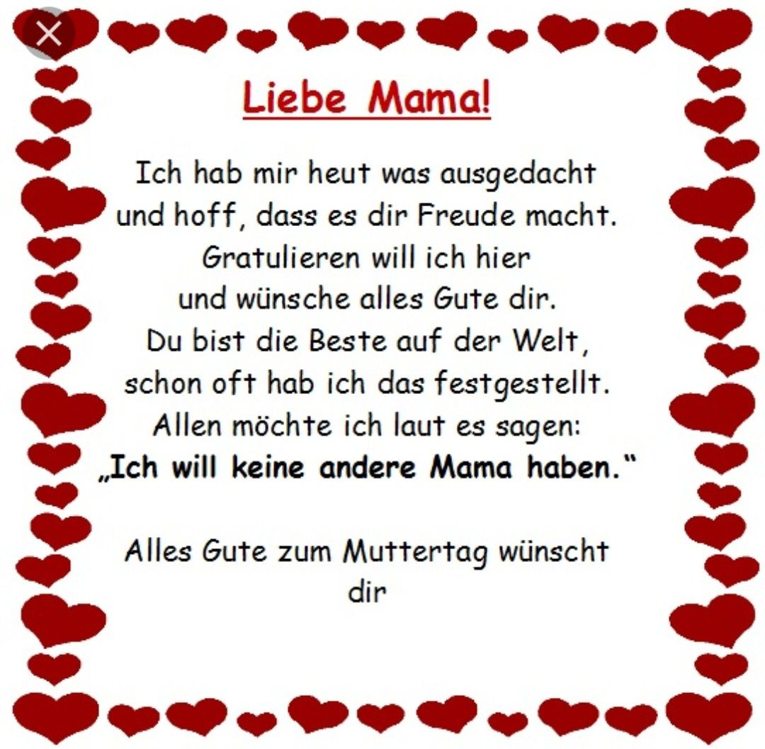 Gedicht zwei mutter