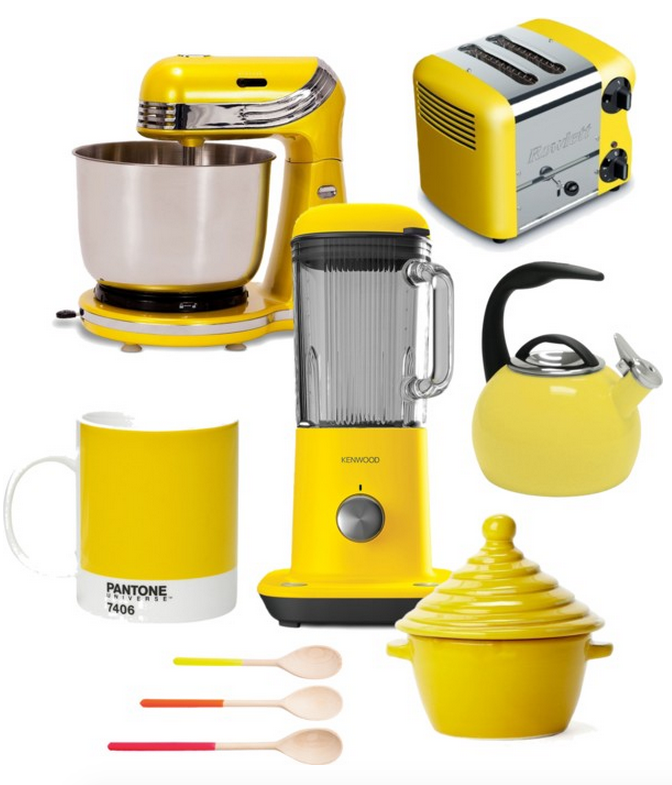 All The Gadgets You Need For A Beautiful Bright Yellow Kitchen