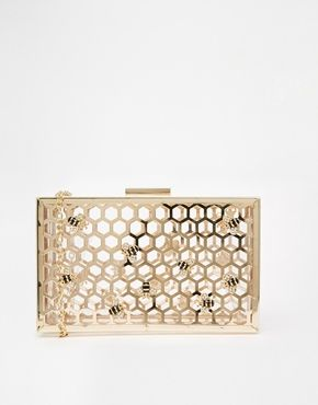 267c50f540d Skinnydip Bee Honeycomb Clutch | Gifts in 2019 | Bee honeycomb ...