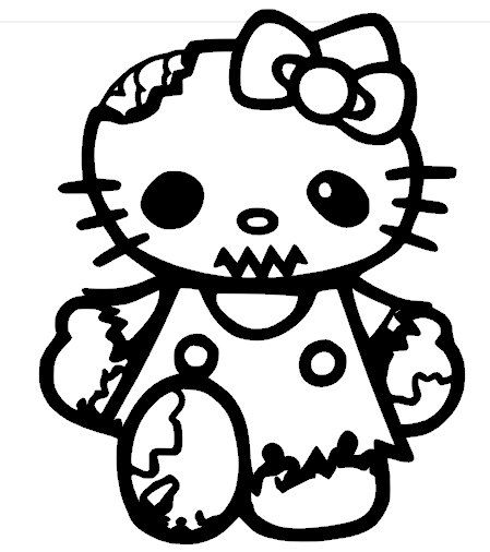 Hello Zombie Kitty Vinyl Decal by PleasantPeasant on Etsy, $5.00 ...