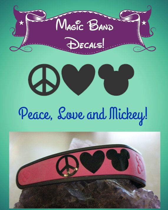 Magic band decal magic band sticker peace love by digitallyocd