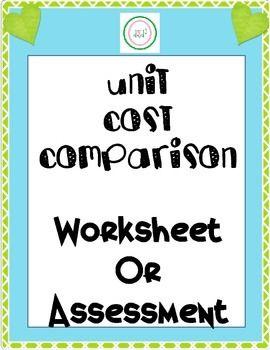 Unit Pricing Worksheets - Gamersn