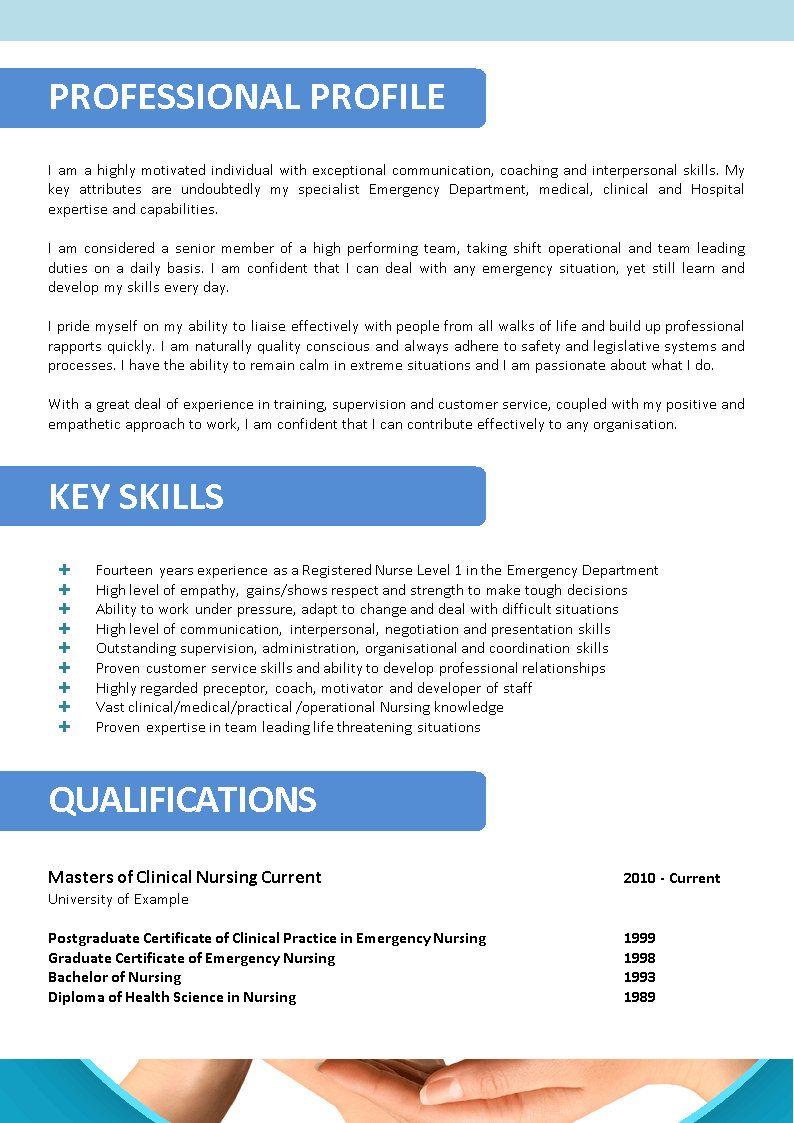 Unique Resume Idea Nursing resume template, Nursing