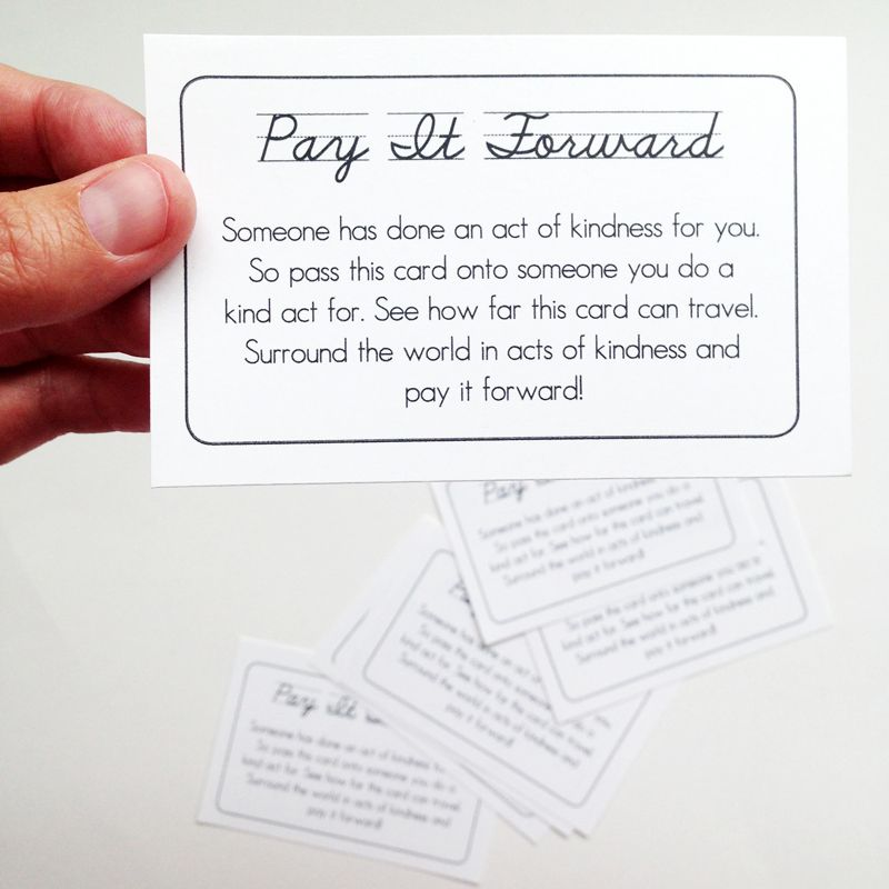 Pay It Forward Game Printable Free Printables Pay It Forward Free
