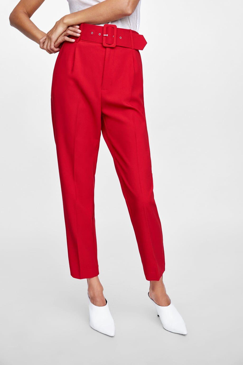d0c00d6f Pantaloni cu talie înaltă şi curea in 2019 | de cumparat | Pants ...