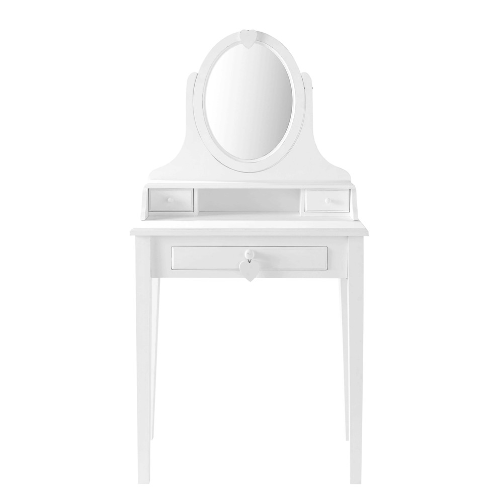 Wooden Dressing Table In Valentine Coiffeuse En Bois Miroir Coiffeuse Coiffeuse