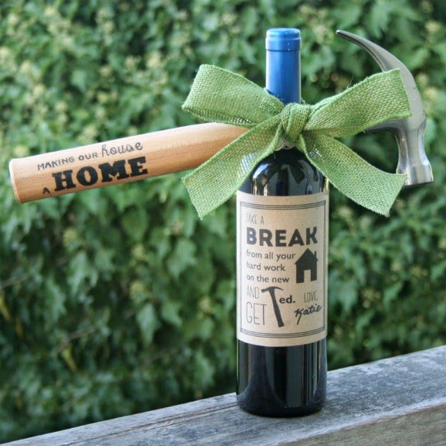 The perfect housewarming gift! Includes free printable wine label ...