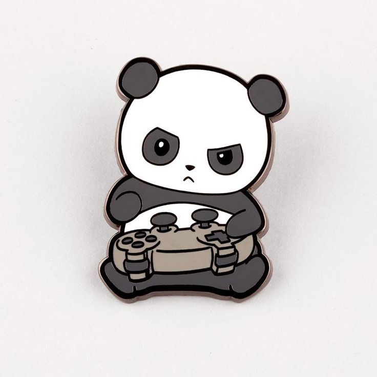 Pew Pew Panda Charm Pin Teeturtle Ilustrasi Karakter Gambar Hewan Lucu Binatang