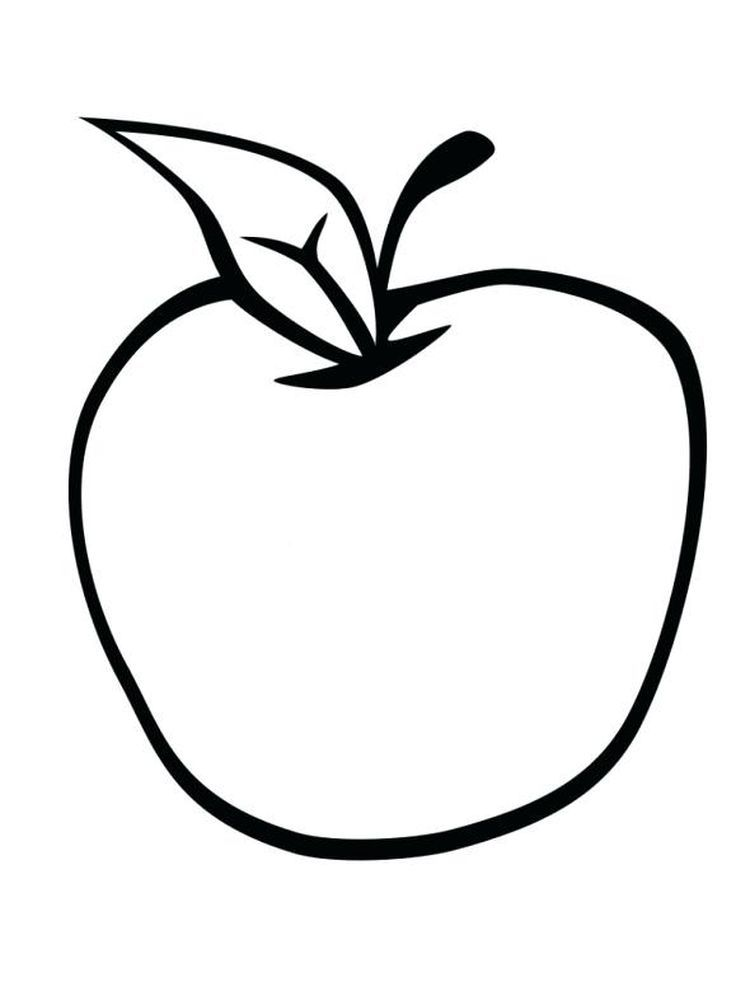 Apple Coloring Page Image Apples Are One Of The Fruits That Many People Like Apart From Its Taste It Is Also Because Of The Benefits Of Apples That Are Very