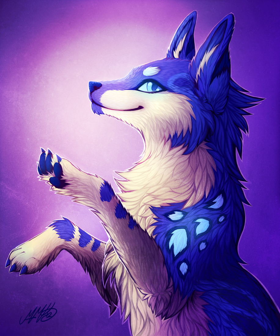 Blue wolf blue wolf by neko maya wowow in 2019 furry - Anime wolves in love ...