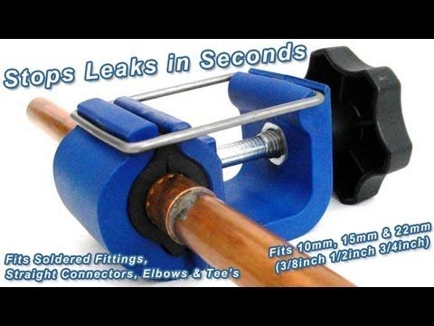 How To Stop A Water Leak On Split Pipes Soldered Joints And Fittings In Seconds With Leak Mate Diy Plumbing Plumbing Repair Handyman Projects