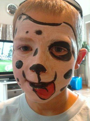 Puppy Dog Face Painting My Face Paint Designs Pinterest Dog