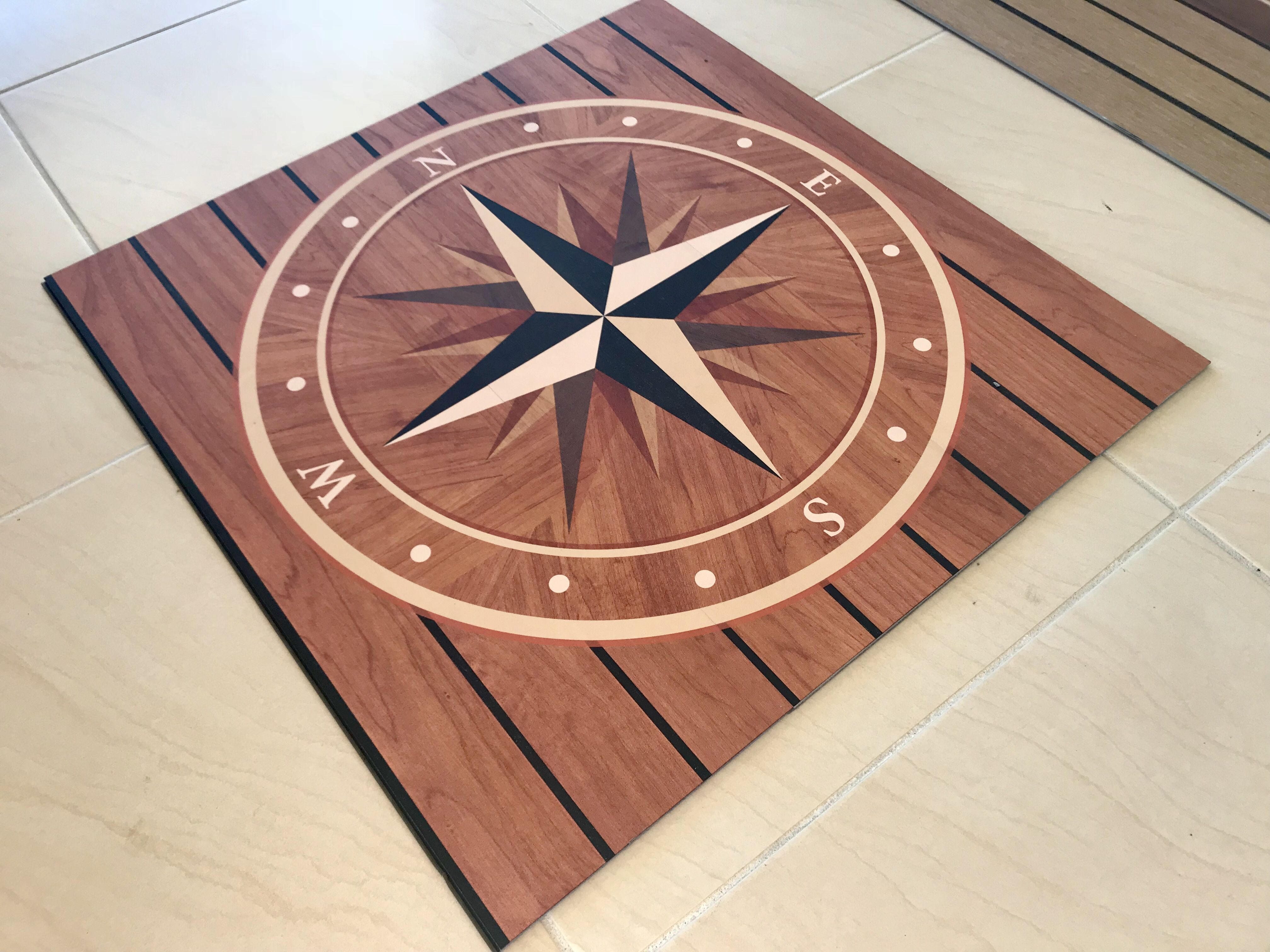 How good does the nautikflor compass rose insert look love it
