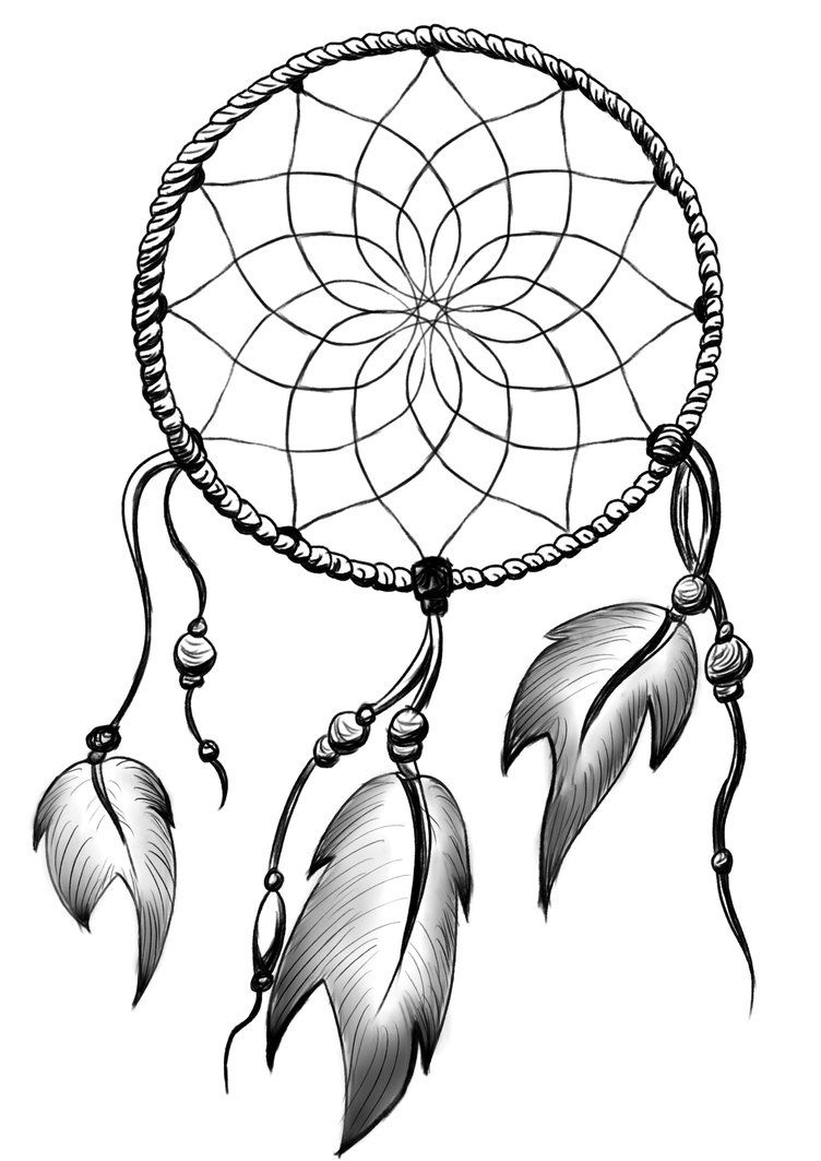 dream catcher black and white clipart clipartfest tattoo ideas