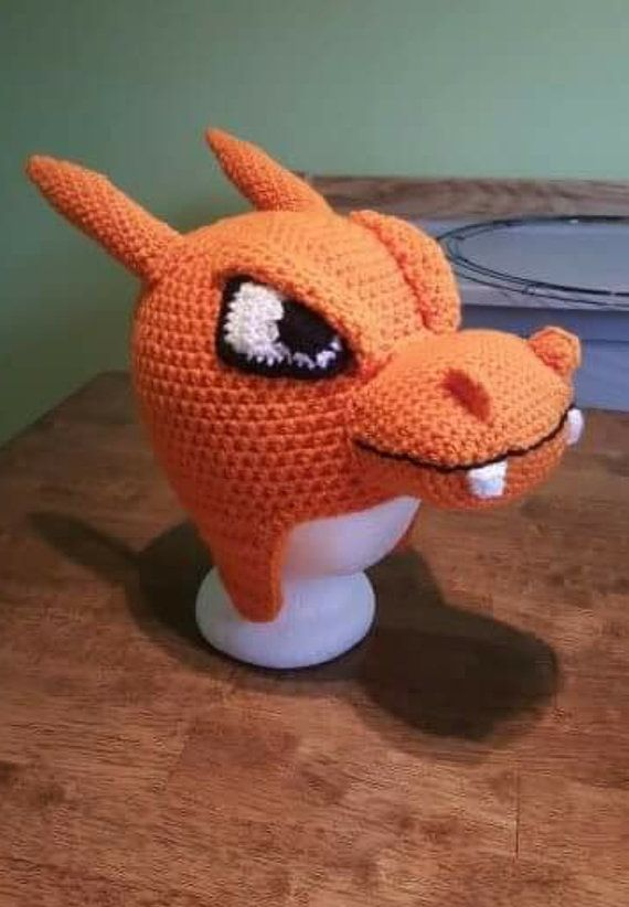 91d45ee4727 Crochet Charizard hat pattern
