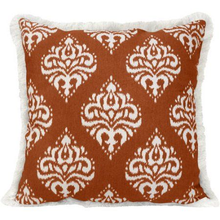 Better Homes and Gardens Medallion Pillow with Fringe - Walmart.com