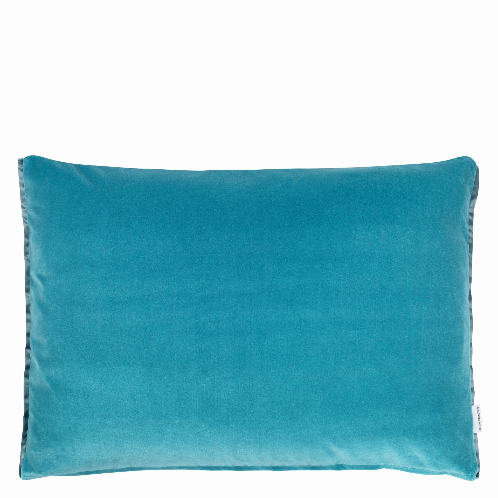 Cassia throw pillow in kingfisher design by designers guild