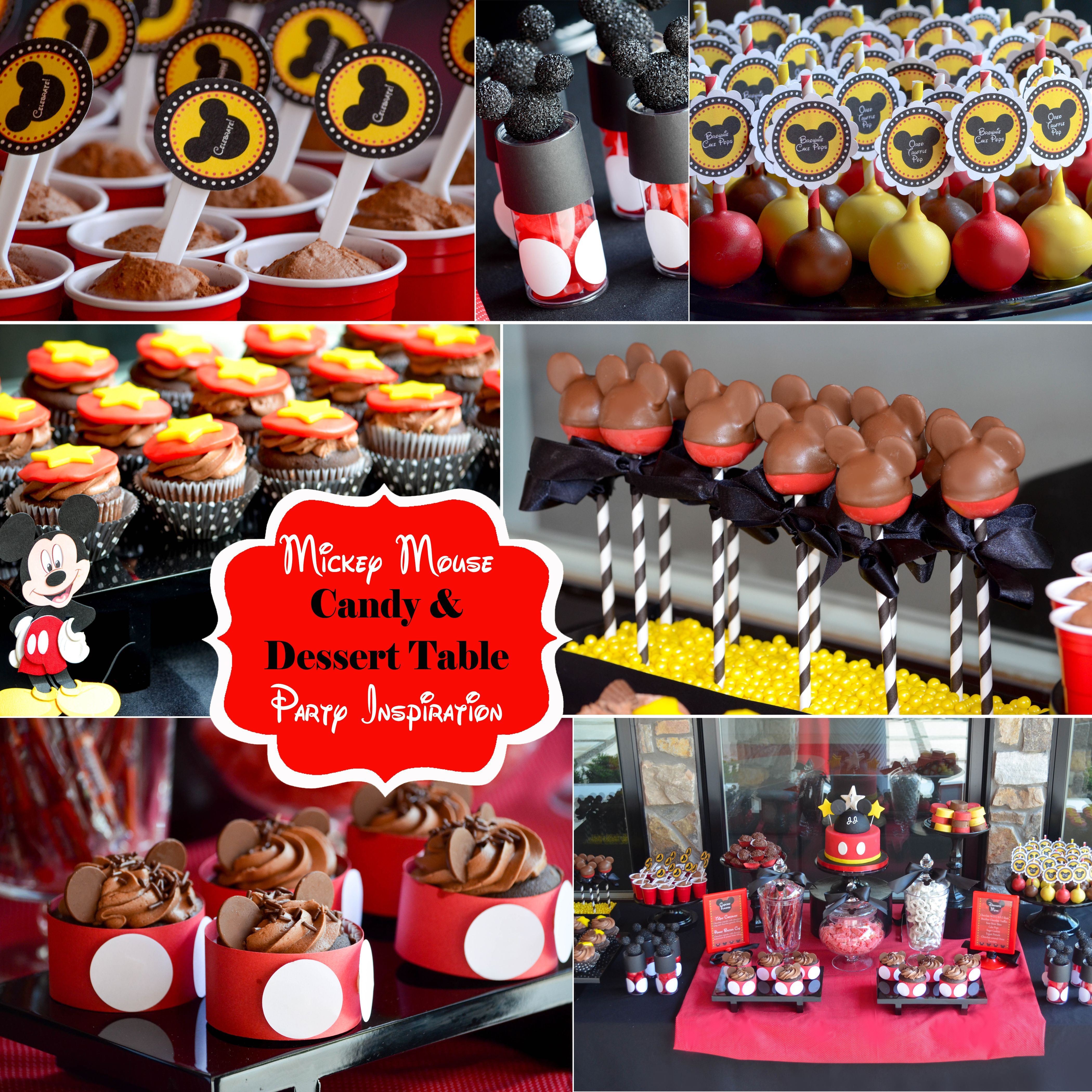 Mickey Mouse Dessert Tables And Candy Buffets Party Inspiration And Ideas Nj Nyc Pa Nyccandyt Mickey Mouse Desserts Candy Buffet Party Mickey Mouse Treats