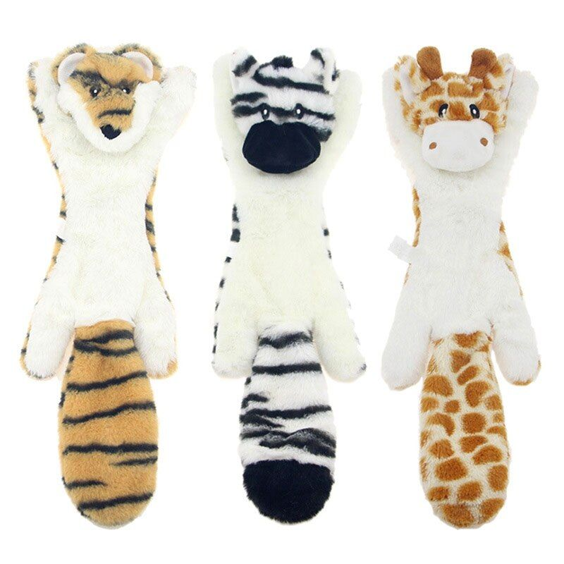 Dog Toys For Chewers Pet Soft Animal Design Cotton Dog Rope Toys