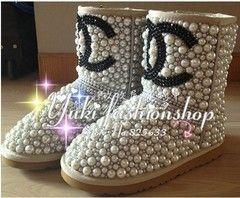 Chanel luxury diamond ugg boots