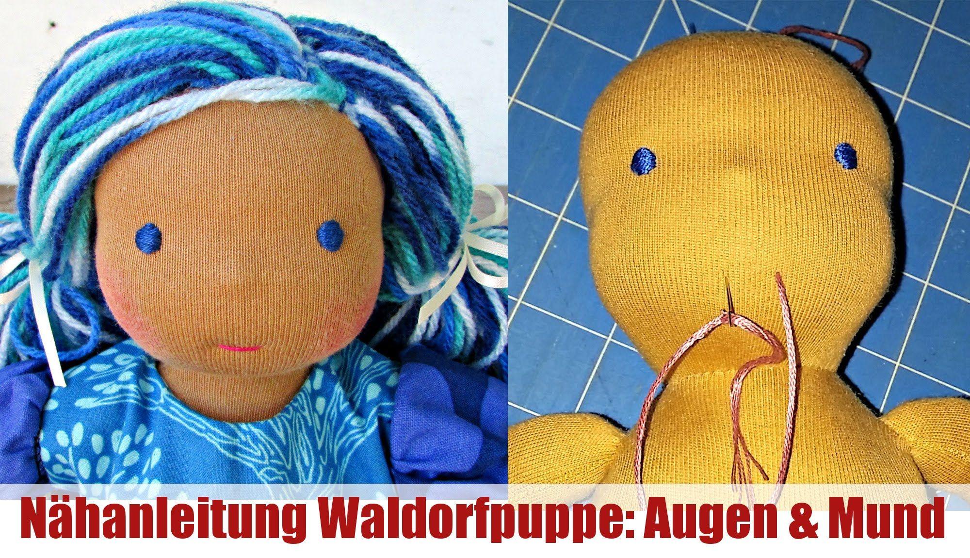 DIY | Augen und Mund sticken (Waldorfpuppe)| Klassische Sami Doll ...