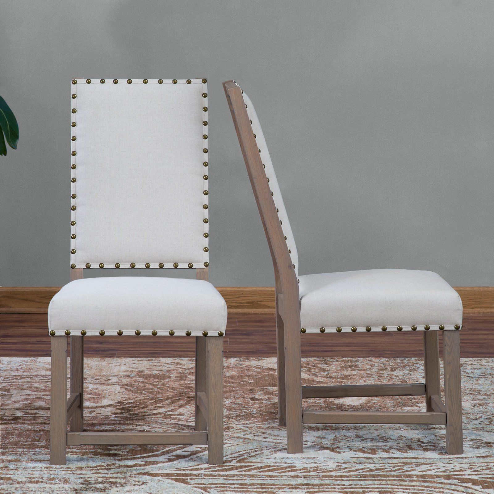 Osp Home Furnishings Preston Dining Chair In Marlow Bluebird Fabric With Silver Nailheads And Brushed Legs Bp Psac M27 The Home Depot Dining Chairs Fabric Dining Chairs Tufted Dining Chairs