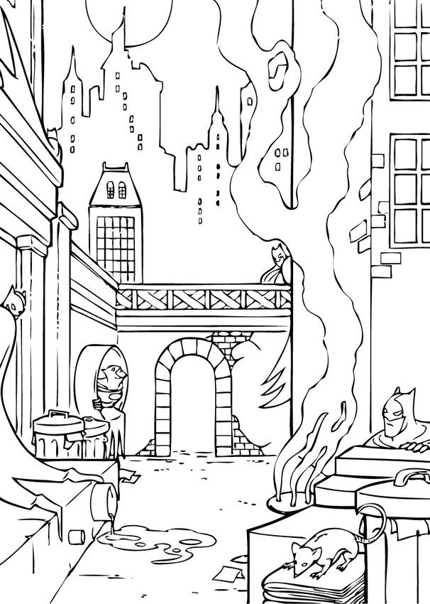 Batman Coloring Page 13 Is A From BookLet Your Children Express Their Imagination When They Color The