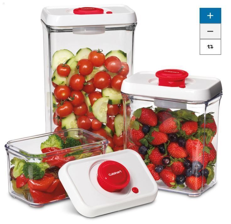 Food Storage Cuisinart 3 Piece Plastic Container Bpa Free Store