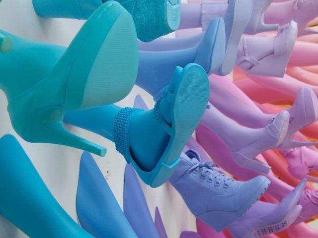 Breuninger Shoe Store Installation by John Breed, Stuttgart, Germany.