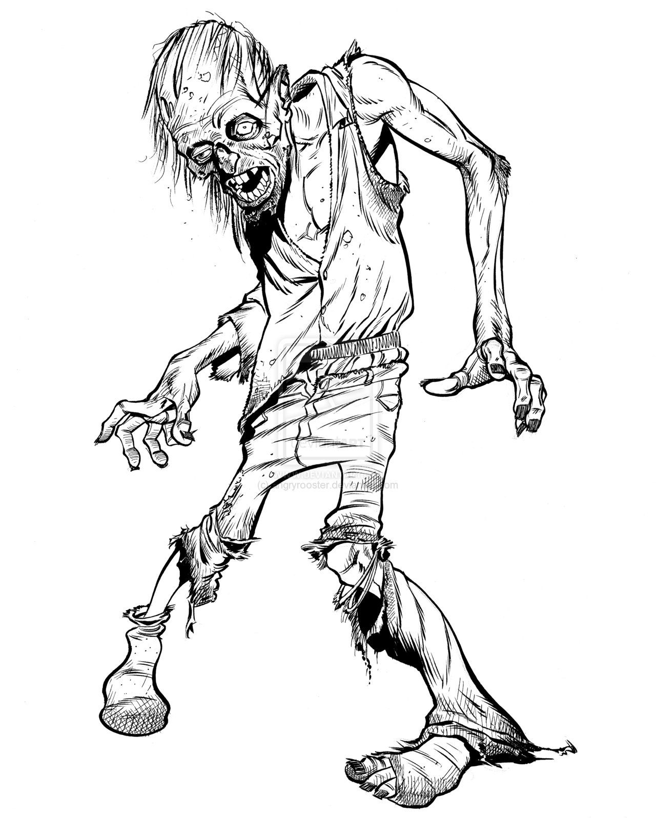 It's just a photo of Astounding Zombie Drawing Simple