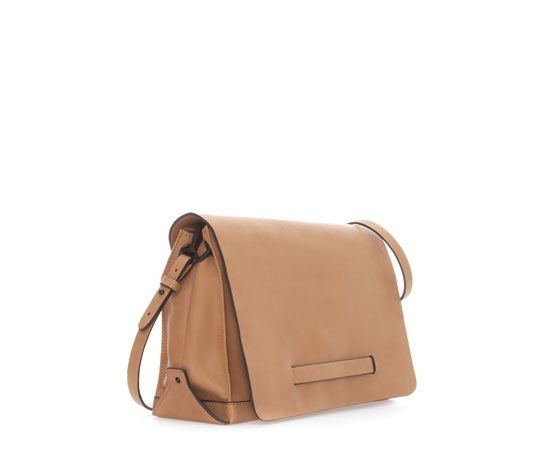 Image 2 of MESSENGER BAG WITH HANDLE AND FOLDOVER FLAP from Zara