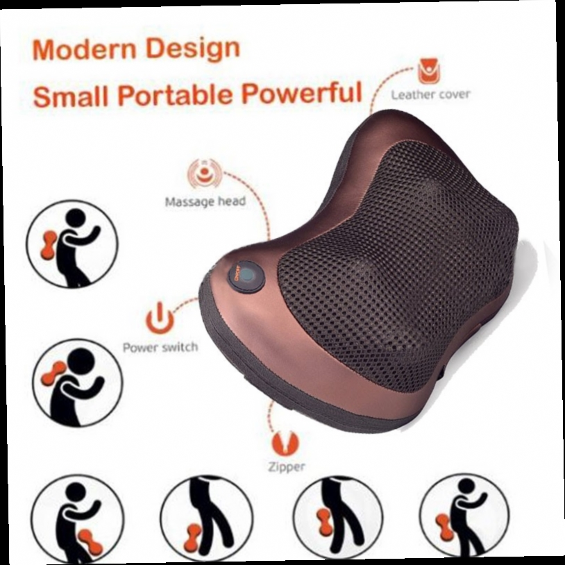 41.60$  Watch now - http://alir47.worldwells.pw/go.php?t=32756367490 - Infrared Knead Body Shiatsu Massage Pillow Massager Cushion Neck Back Home&Car Seat Cover Relaxation Massage with car charger