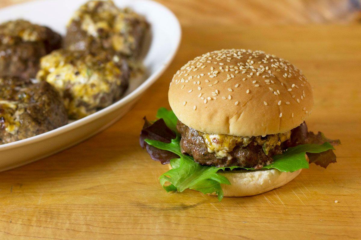 Stuffed Burgers // Pit Boss Grills | Recipes, Grilled ...