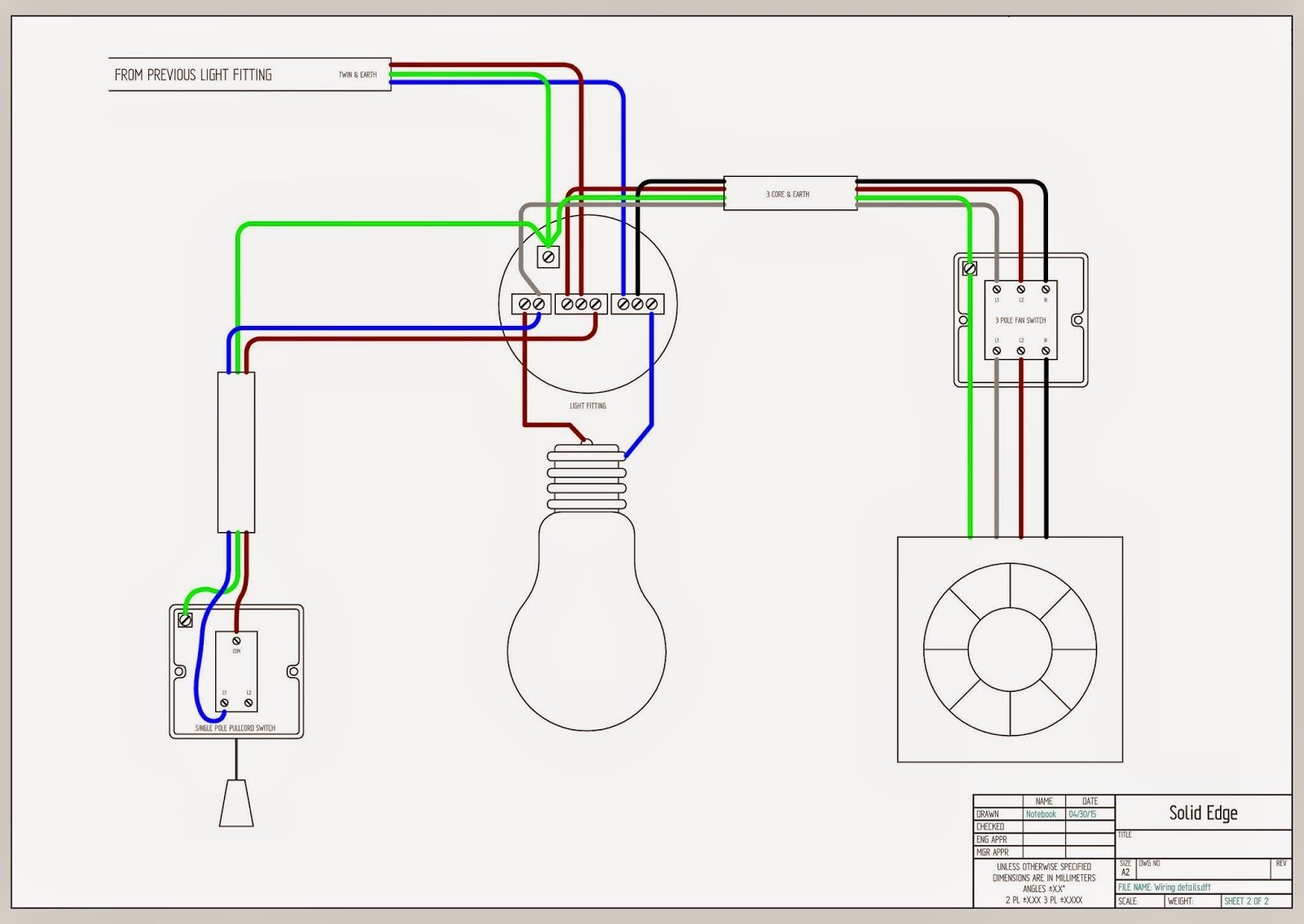 3bed5642162ea7921db5d6e9e0588c33 bathroom exhaust fan with light wiring diagram bathroom exclusiv 3 core and earth wiring diagram at virtualis.co