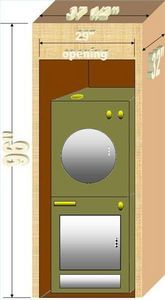 How To Build A Cabinet Around A Stacked Washer Dryer In A Bathroom Hunker Washer Dryer Laundry Room Laundry Dryer Laundry Room Storage Shelves